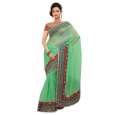 Triveni Indian Ethnic Elegant Broad  Bordered Jute Silk Saree - Silk Sarees By Trivenisarees