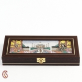 Taj Mahal Design Precious Stones Inlay Work Gem Box