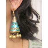 Green Gold Jhumka
