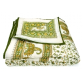 World Famous Jaipuri Hand Made Block Print  Double Bed Quilts Srl2001