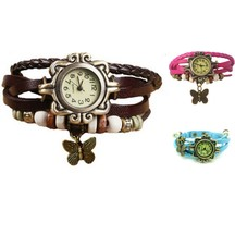 Festival Offer Combo Of Three Casual Analog Leather Women Wrist Watch (brown,pink,sky Blue)