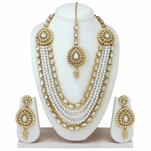 Designer Party Wear Fashion Jewellery Bollywood Gold Plated Necklace Set