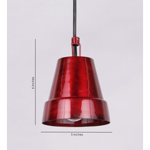 Height Of Designs Red Pendant Lamp