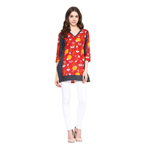 Red Printed Cotton S...