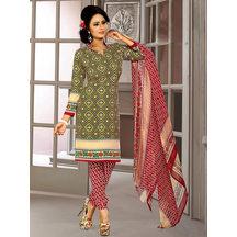 Shonayaa Black & Yellow Crepe Printed Unstitched Dress Material With Dupatta
