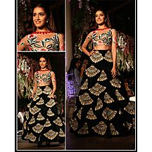 Laxmipathi Presents Diwali Special Offer On Designer Black Banglori Silk Embroidered Lehengas Choli
