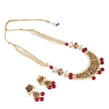 Craftsvilla Traditional Rajasthani Jewellery Thewa Necklace With Earrings