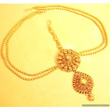 Gold Look Antique Polki Mathapatti