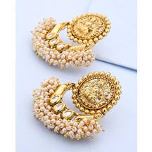 Voylla Earrings Pair With Bunch Of Pearl Beads