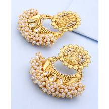 Voylla Classic Pair Of Earrings With Pearl Beads Bunch