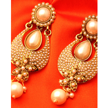 Voylla Splendid Drop Design Gold Plated Designer Earrings