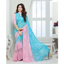 Chiffon Saree By (sky_blue)