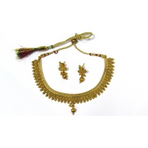 Craftsvilla Copper Finish Alloy Metal  Traditional Hand Crafted Necklace Set