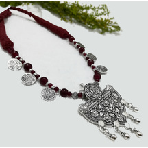 Craftsvilla Silver Plated Brass Traditional Hand Crafted Necklace