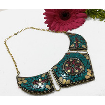 Craftsvilla Oxidized Gold Finish Brass Traditional Hand Crafted Necklace Set