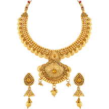 Gold Plated Copper Ethnic Kundan Necklace Set