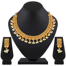 Gold Plated Brass Ethnic Necklace Set