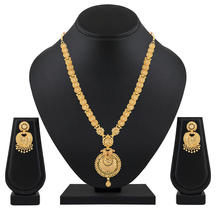 Gold Plated Alloy Metal Traditional Necklace Set