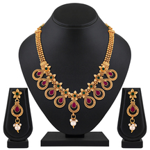 Gold Plated Zinc Finish Traditional Necklace Set