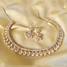 Gold Plated Brass Hand Crafted Necklace Set