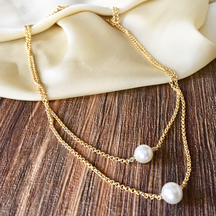 Gold Plated Brass Hand Crafted Necklace