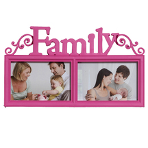 Lovely Pink 2 Pictures Collage Photo Frame - Photoframes By Apnorajasthan