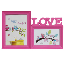 Pinkish Love 2 Pictures Collage Photo Frame - Photoframes By Apnorajasthan