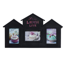 Hut Style 3 Pictures Collage Photo Frame - Photoframes By Apnorajasthan
