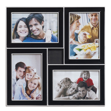 Black Stylish 4 Pictures Collage Phot Frame - Photoframes By Apnorajasthan