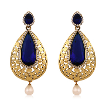Inaya Multi-coloured Crystal And Blue Earring