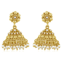 Inaya Best - Selling Enamel And High Gold Look Fashion Jhumki Earring