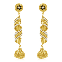 Inaya High Gold Plated Look And Man Made Earrings