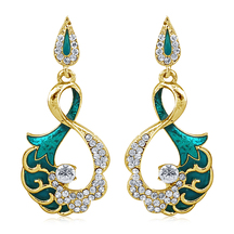 Inaya Blue And Gold Earring With Enamal