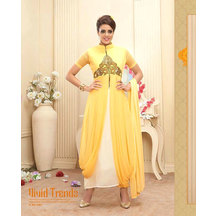 Yellow Colored Beautiful Gown