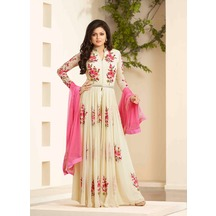 Offwhite Hot Designer Italian Embroidered Georgette Anarkali Suit Lt-offwhite