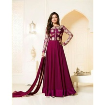 Skyblue Fashion Pink Color Georgette Embroidered Anarkali Suit