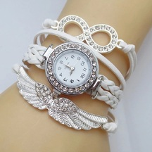 White Leather Vogue Bracelet Watch - 822
