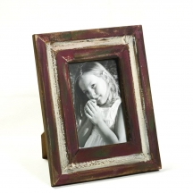 Red Rustic Finish Wooden Photo Frame