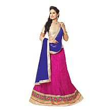 Florence Pink Net With Braso Embrodried Lehenga