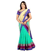 Florence Green Net With Braso Embrodried Lehenga
