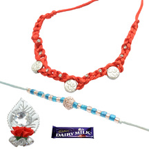 Foppish Mart Om & Pearl Beaded  Rakhis For Brother
