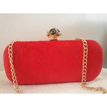 Red And Golden Box Clutch