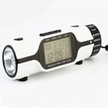 Travelling World Time Clock With Torch