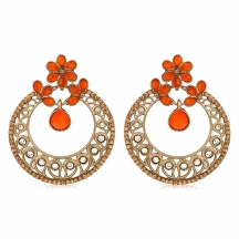 Inaya  Diamond And High Gold Multi Metal Earring