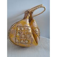 Yellow Bangle Style Potli Bag