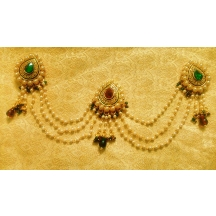 Lalso Royal Mathapatti Maang Tikka Hair Accessories Wedding Bridal Jewelry - Lmt01m