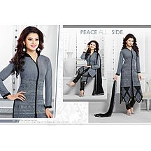 Laxmipathi Fancy & Exclusive Gray And Black Party Wear Salwar Suit