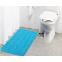 Lushomes Ultra Soft Microfiber Polyester Turquoise Large Bath Mat - Pombmr1001