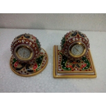 Table Clocks In Marble.  A Muhenera Collection In Tie Up With Aakrati Am003a