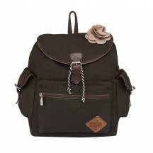 Muhenera Taned Canvas Back Pack  With Pu Trims